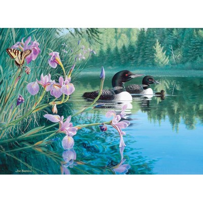 Puzzle Cobble-Hill-85069 XXL Teile - Iris Cove Loons