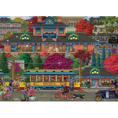 Puzzle Cobble-Hill-85082 XXL Teile - Trolley Station