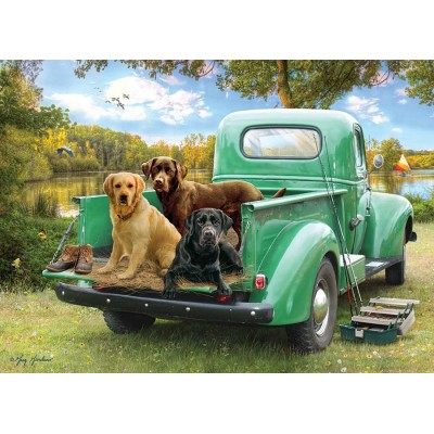 Puzzle  Cobble-Hill-85086 XXL Teile - Let's Go Fishing