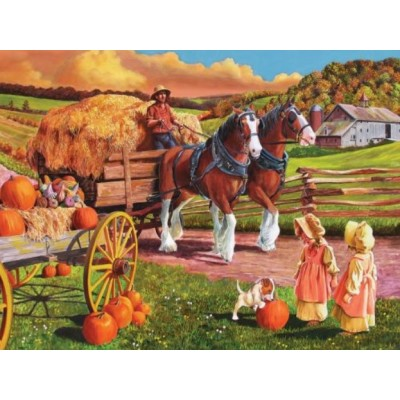 Puzzle  Cobble-Hill-88010 XXL Teile - Hay Wagon
