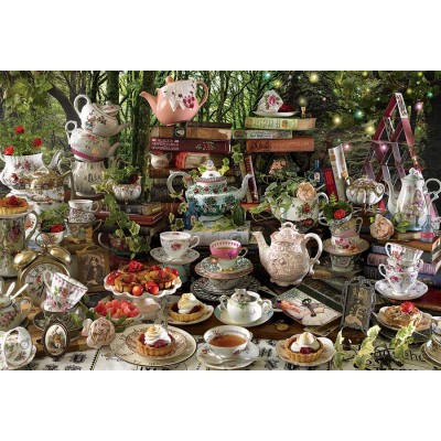 Puzzle  Cobble-Hill-89011 Mad Hatter's Tea Party