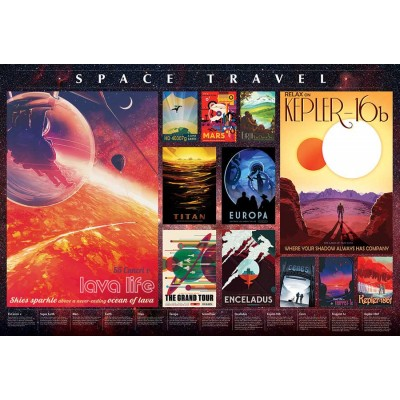Puzzle  Cobble-Hill-89013 Space Travel Posters