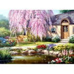 Puzzle  Perre-Anatolian-1089 Cherry Blossom Cottage