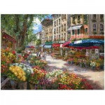 Puzzle  Perre-Anatolian-3106 Sam Park: Paris, Der Blumenmarkt