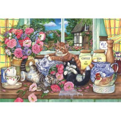 Puzzle  Perre-Anatolian-3574 Katzen in der Küche