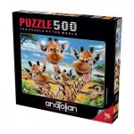 Puzzle  Perre-Anatolian-3617 Giraffes' Selfie