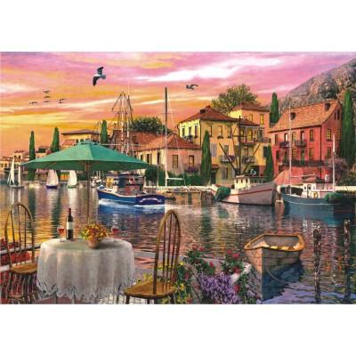 Puzzle Perre-Anatolian-4905 Sonnenuntergang am Hafen