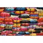 Puzzle  Piatnik-5487 Kunterbunte Schirme