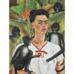 Puzzle  Piatnik-5509 Frida Kahlo - Selbstbildnis mit Affen