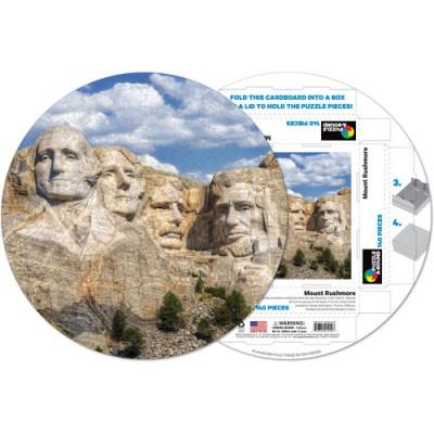 Pigment-and-Hue-RMTRUSH-41219 Fertiges Rundpuzzle - Mount Rushmore