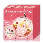 Pintoo-A2800 Schlüsselanhänger 3D Puzzle - Erdbeere