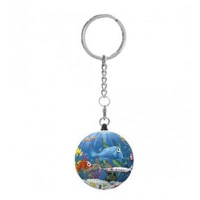 Pintoo-A2803 Schlüsselanhänger 3D Puzzle - Aquarium