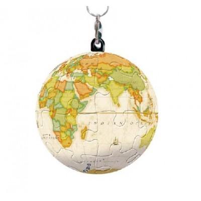 Pintoo-A2843 Schlüsselanhänger 3D Puzzle - Globe