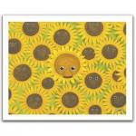 Pintoo-H1053 Puzzle aus Kunststoff 500 Teile - Teddybär mit Sonnenblumen
