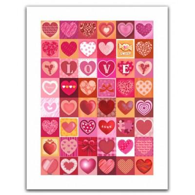 Pintoo-H1403 Puzzle aus Kunststoff 300 Teile - Love