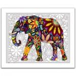 Pintoo-H1479 Puzzle aus Kunststoff 500 Teile - Bunter Elefant