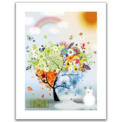 Pintoo-H1531 Puzzle aus Kunststoff 300 Teile - Baum der Hoffnung