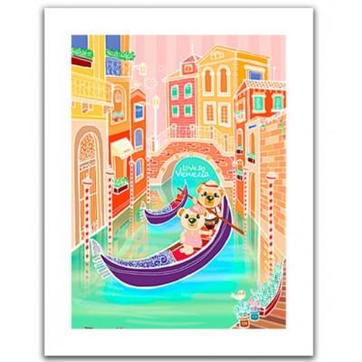 Pintoo-H1537 Puzzle aus Kunststoff - Romantic Vacations - Venice