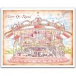 Pintoo-H1545 Puzzle aus Kunststoff - Merry Go Round