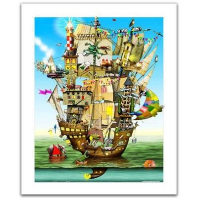 Pintoo-H1559 Puzzle aus Kunststoff - Colin Thompson - Norah's Castle