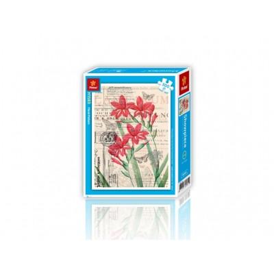 Pintoo-H1583 Puzzle aus Kunststoff - Floral Pattern