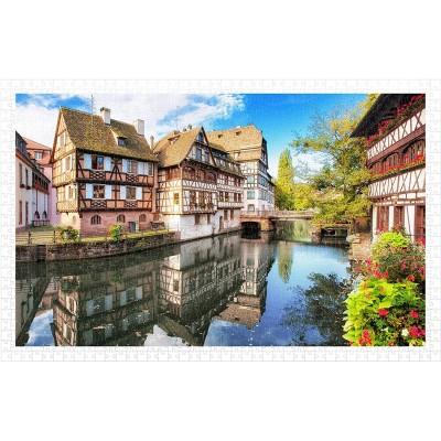 Pintoo-H1597 Puzzle aus Kunststoff - Strasbourg, Petite France