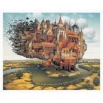 Pintoo-H1637 Puzzle aus Kunststoff - Jacek Yerka - City is Landing