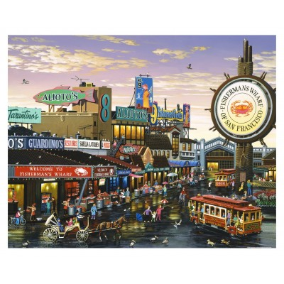 Pintoo-H1641 Puzzle aus Kunststoff - San Francisco