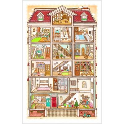 Pintoo-H1643 Puzzle aus Kunststoff - Sweet Home