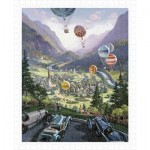Pintoo-H1644 Puzzle aus Kunststoff - Michael Young - Up Up and Away