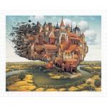 Pintoo-H1645 Puzzle aus Kunststoff - Jacek Yerka - City is Landing