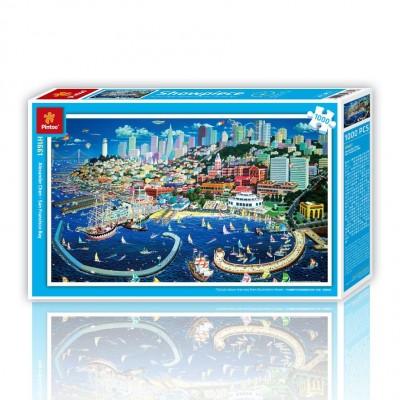 Pintoo-H1661 Puzzle aus Kunststoff - San Francisco