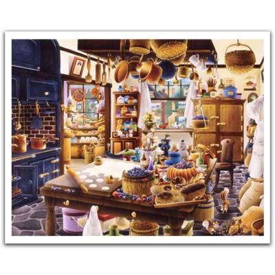 Pintoo-H1667 Puzzle aus Kunststoff - Bäckerei