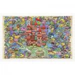 Pintoo-H1672 Puzzle aus Kunststoff - Mystical Castle