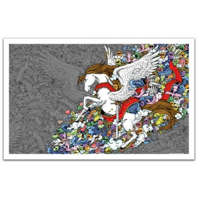 Pintoo-H1673 Puzzle aus Kunststoff - Pegasus
