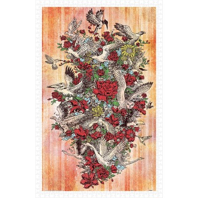Pintoo-H1676 Puzzle aus Kunststoff - Blooming Flight
