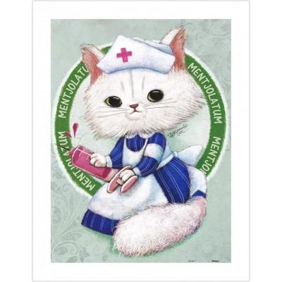 Pintoo-H1681 Puzzle aus Kunststoff - Ms. Chiu Chiu the Nurse