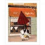 Pintoo-H1708 Puzzle aus Kunststoff - Nan Jun - Half - Coffee Shop