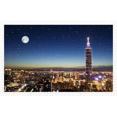 Pintoo-H1719 Puzzle aus Kunststoff - Taipei Skyline