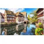 Pintoo-H1755 Puzzle aus Kunststoff - Strasbourg, Petite France