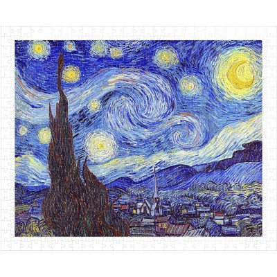 Pintoo-H1758 Puzzle aus Kunststoff - Vincent Van Gogh - The Starry Night, June 1889
