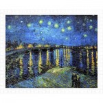 Pintoo-H1760 Puzzle aus Kunststoff - Vincent Van Gogh - Starry Night Over The Rhone, 1888