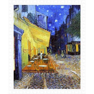 Pintoo-H1762 Puzzle aus Kunststoff - Van Gogh Vincent - Cafe Terrace at Night
