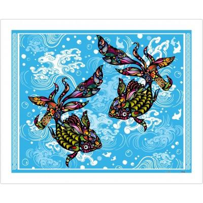Pintoo-H1771 Puzzle aus Kunststoff - The Brilliant Goldfish