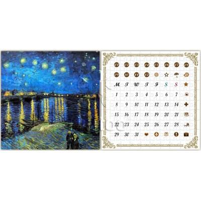 Pintoo-H1778 Puzzle-Kalender - Van Gogh - Sternennacht über der Rhone