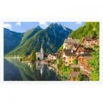 Pintoo-H1785 Puzzle aus Kunststoff - Lakeside Village of Hallstatt, Austria