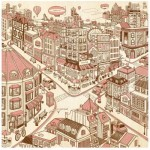 Pintoo-H1788 Puzzle aus Kunststoff - Happiness Town