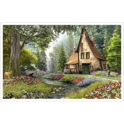 Pintoo-H1790 Puzzle aus Kunststoff - Dominic Davison - Toadstool Cottage