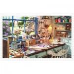 Pintoo-H1796 Puzzle aus Kunststoff - Großmutters Werkstatt