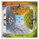 Pintoo-H1925 Puzzle aus Kunststoff - Jacek Yerka - Apple Tree